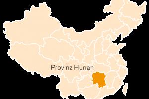 Karte Hunan Provinz